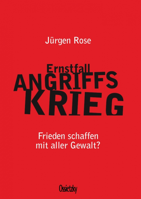 Cover »Ernstfall Angriffskrieg«