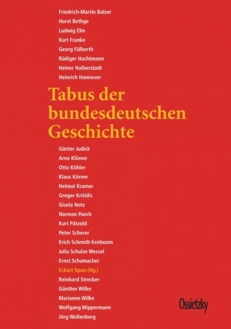 Cover: »Tabus der bundesdeutschen Geschichte«