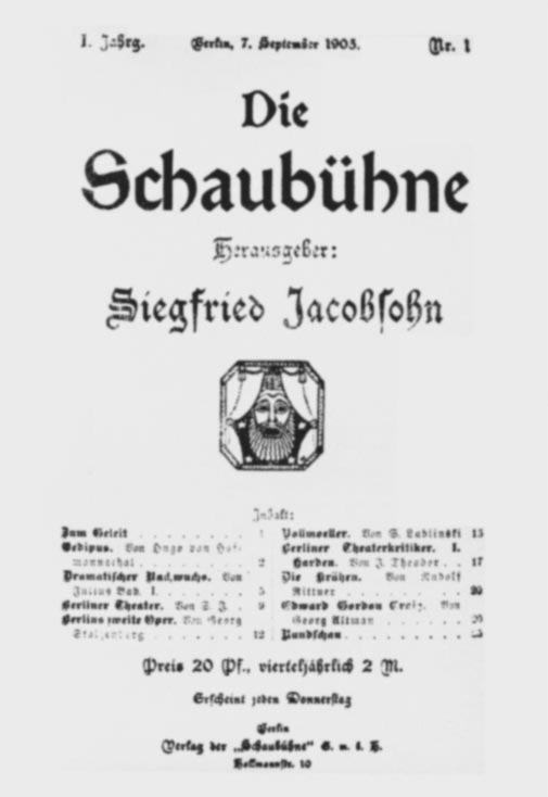 Umschlag Schaubühne