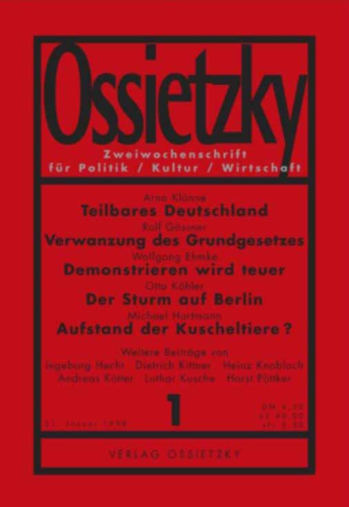 Umschlag Ossietzky 1997