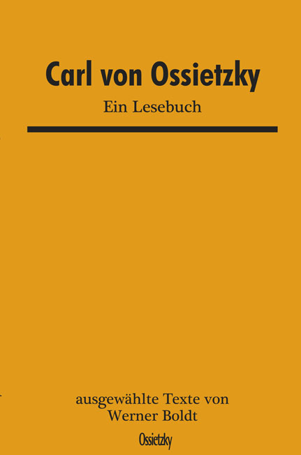 Cover: Ossietzky Lesebuch